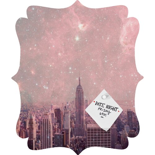 DENY Designs Bianca Green Stardust Covering New York Quatrefoil Magnet Memo Board