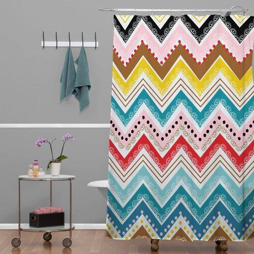 DENY Designs Khristian A Howell Woven Polyester Nolita Chevrons Shower Curtain
