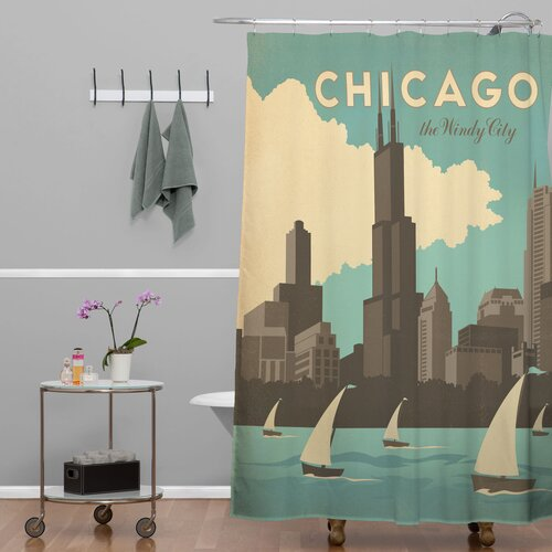 DENY Designs Anderson Design Group Woven Polyester Chicago Shower Curtain