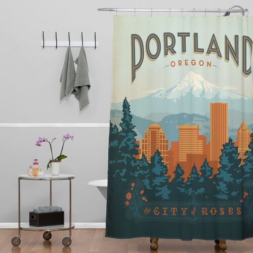 DENY Designs Anderson Design Group Woven Polyester Portland Shower Curtain