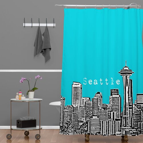 DENY Designs Bird Ave Woven Polyester Seattle Shower Curtain
