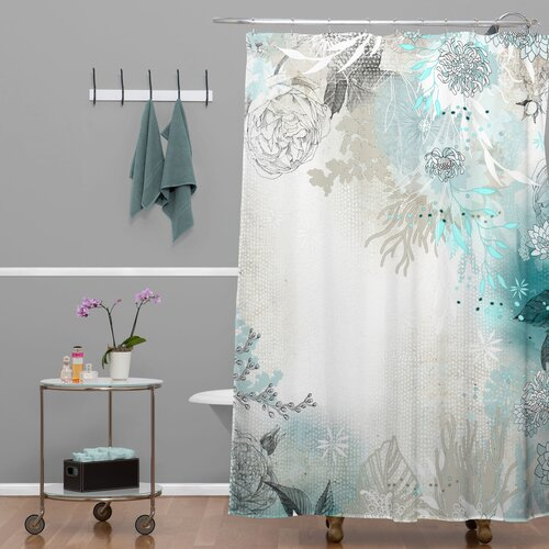 DENY Designs Iveta Abolina Polyester Seafoam Shower Curtain