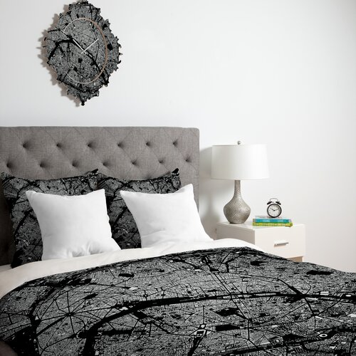 DENY Designs CityFabric Inc Paris Microfiber Duvet Cover