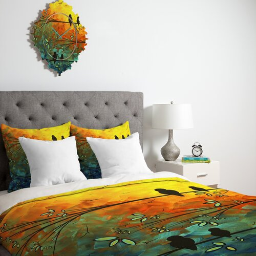 DENY Designs Madart Inc Birds Of A Feather Microfiber Duvet Cover