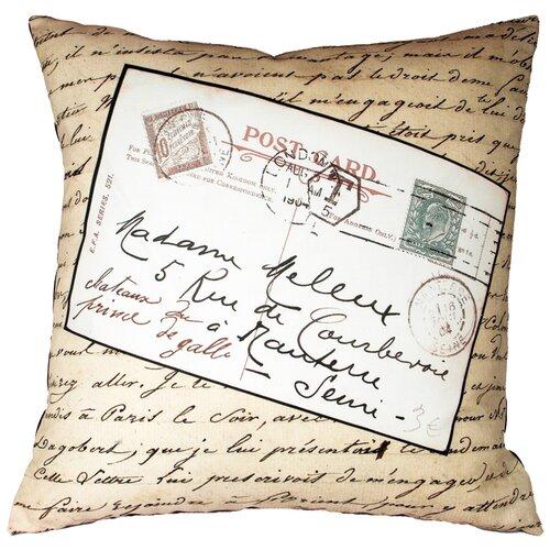 French Vintage Postcard Pillow