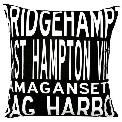 Uptown Artworks Hamptons 4 Line Pillow