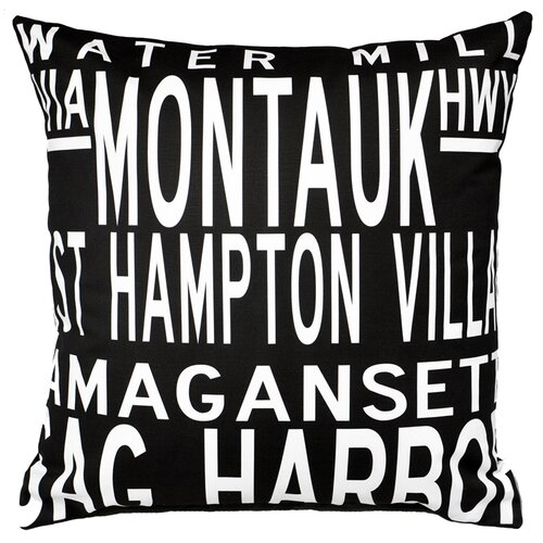 Uptown Artworks Hamptons 5 Line Pillow