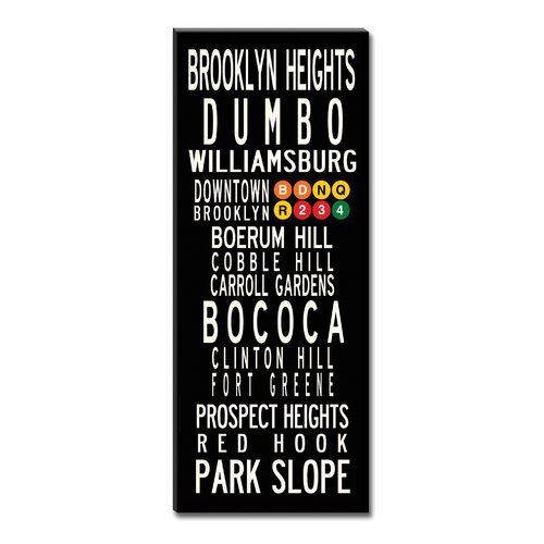 Uptown Artworks Brooklyn Neighbordhoods Textual Art on Canvas