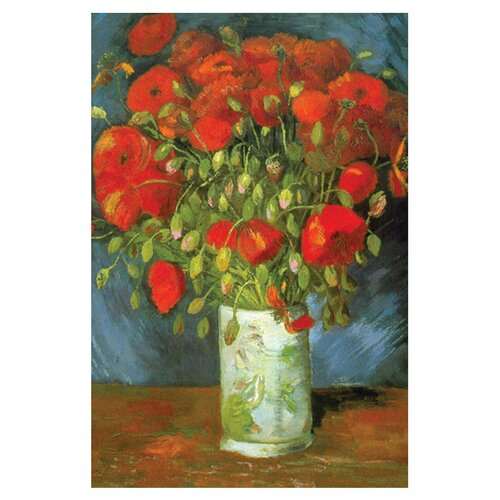 Buyenlarge Red Poppies by Vincent Van Gogh Painting Print on Canvas