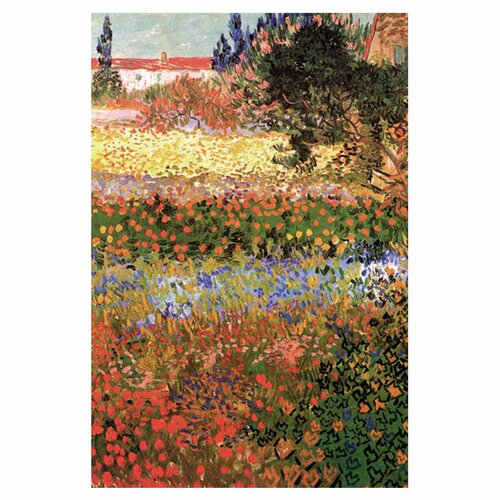 Buyenlarge Flowering Garden with Path by Vincent van Gogh Painting Print on Canvas