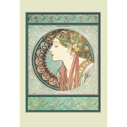 Buyenlarge Woman's Profile by Alphonse Maria Mucha Graphic Art on Canvas