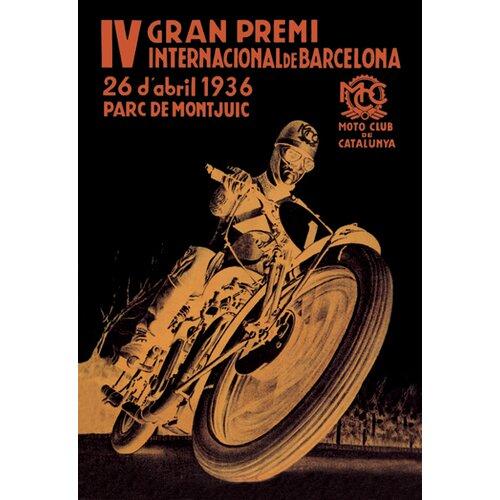 4th International Barcelona Grand Prix Vintage Advertisement on Canvas