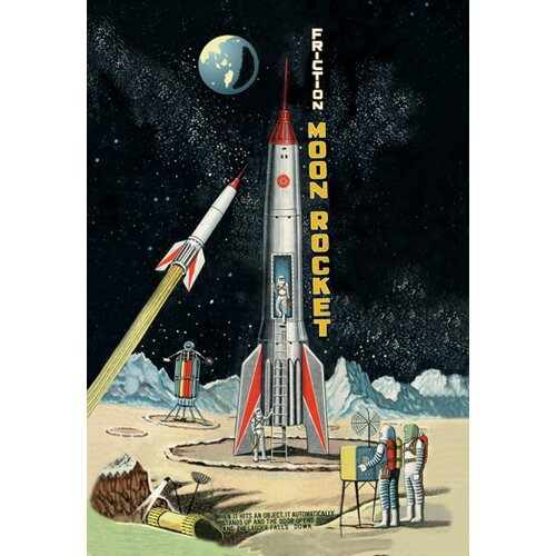 Buyenlarge Friction Moon Rocket Vintage Advertisement on Canvas