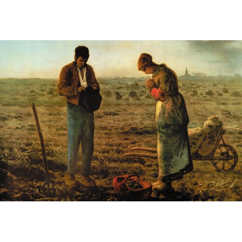 Buyenlarge Angelus by Millet Painting Print on Canvas
