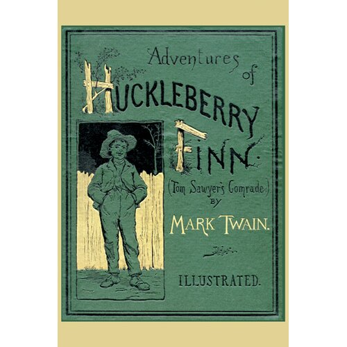 Buyenlarge Adventures of Huckleberry Finn by Melville Vintage Advertisement on Canvas