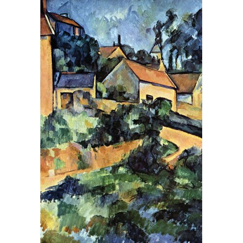 Buyenlarge Road Curve in Montgerout by Paul Cezanne Painting Print on Canvas