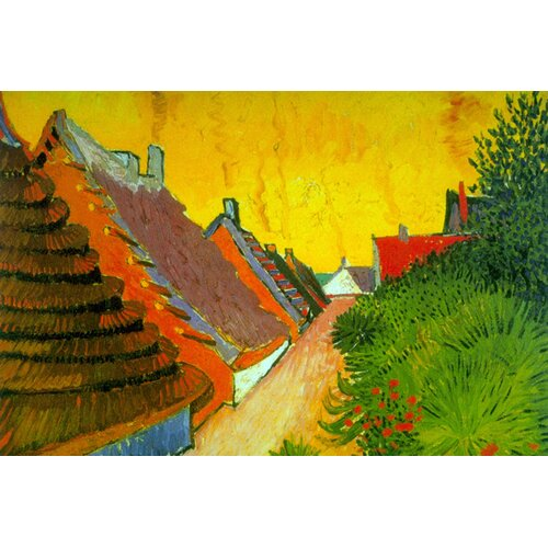 Buyenlarge Saintes-Maries Road Through the Town by Vincent Van Gogh Painting Print on Canvas