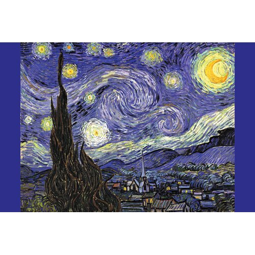 Buyenlarge Starry Night by Vincent Van Gogh Painting Print on Canvas