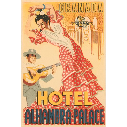 Buyenlarge Hotel Alhambra - Palace Vintage Advertisement on Canvas