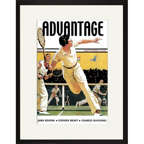 Men Play Tennis Framed Vintage Advertisement