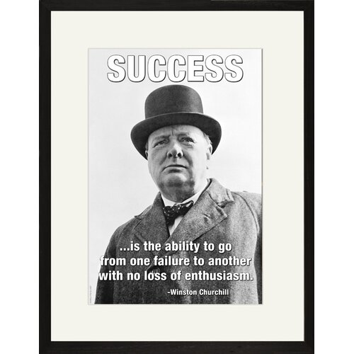 Buyenlarge Success is the Ability by Winston Churchill Framed Graphic Art