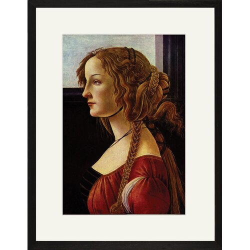 Buyenlarge Portrait of Simonetta Vespucci by Sandro Botticelli Framed Painting Print