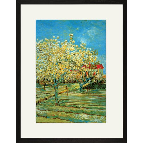 Buyenlarge Orchard with Cypress by Vincent Van Gogh Framed Painting Print