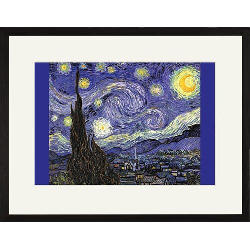Buyenlarge Starry Night by Vincent Van Gogh Framed Painting Print