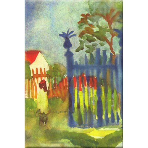 Buyenlarge Garden Gate Painting Print on Canvas