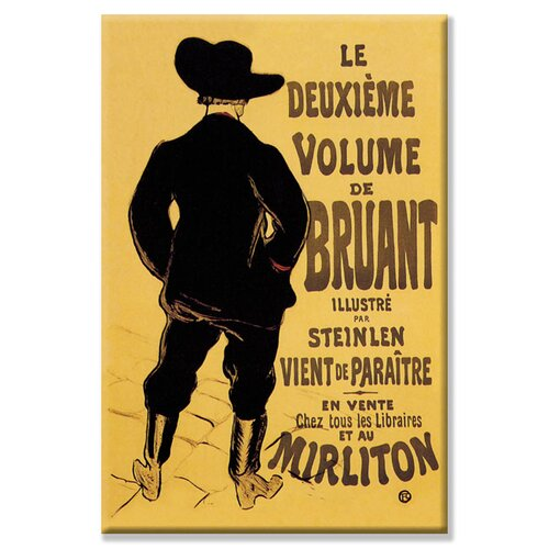 Deuxieme Volume de Bruant by Henri de Toulouse-Lautrec Vintage Advertisement on Canvas