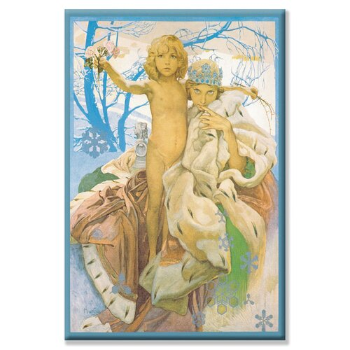 Buyenlarge Snow Queen and Child by Alphonse Maria Mucha Painting Print on Canvas