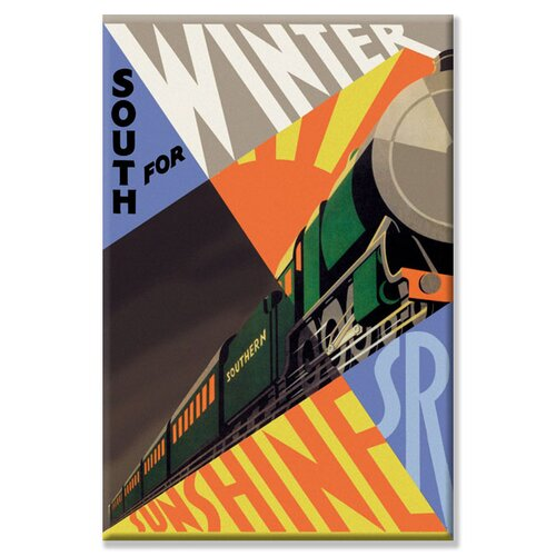 South for Winter Sunshine Southern Railroad Vintage Advertisement on Canvas