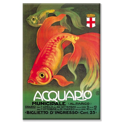 Buyenlarge Acquario by Leopoldo Metlicovitz Vintage Advertisement on Canvas