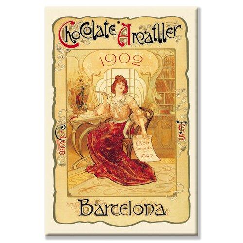 Buyenlarge Chocolate Amatller Barcelona, 1902 Vintage Advertisement on Canvas