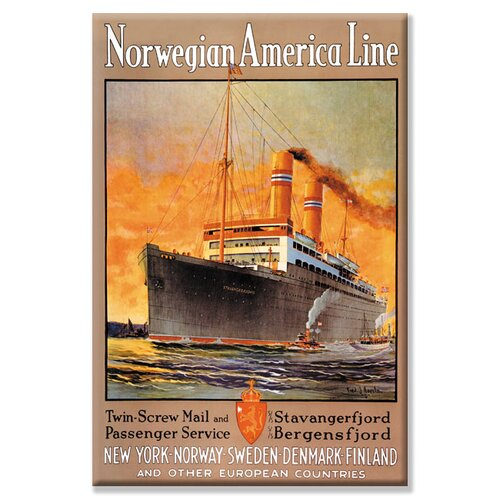 Buyenlarge Norwegian-America Cruise Line Vintage Advertisement on Canvas