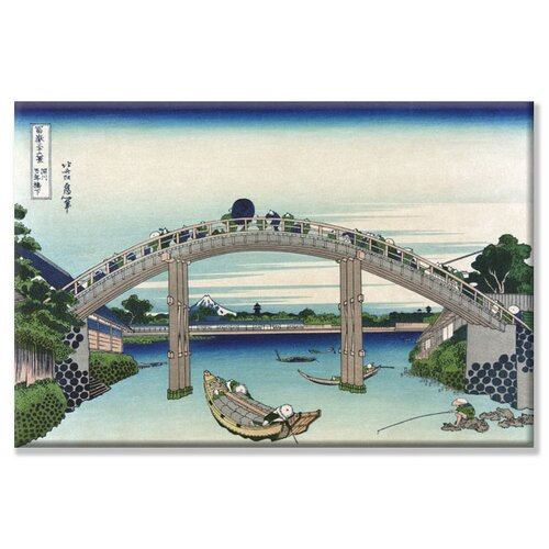 Edo Zdo Bridge by Katsushika Hokusai Painting Print on Canvas
