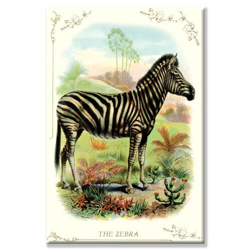 Buyenlarge Zebra Graphic Art on Canvas