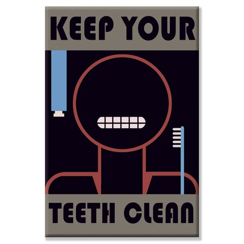 Buyenlarge Keep Your Teeth Clean Vintage Advertisement on Canvas