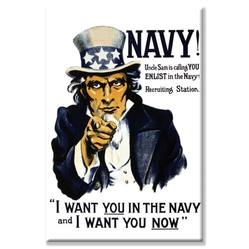 Buyenlarge Navy! Uncle Sam is Calling You--Enlist in The Navy! Vintage Advertisement on Canvas