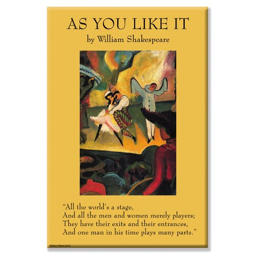 As You Like it - All the World's a Stage Vintage Advertisement on Canvas