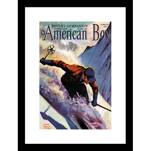 Buyenlarge American Boy February 1939 Framed Vintage Advertisement