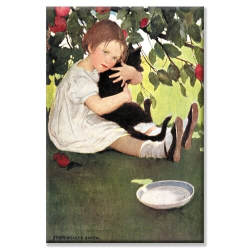 Buyenlarge I Love Little Pussy by Jessie Willcox Smith Painting Print on Canvas