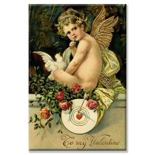 Angel Girl with Dove Vintage Advertisement on Canvas