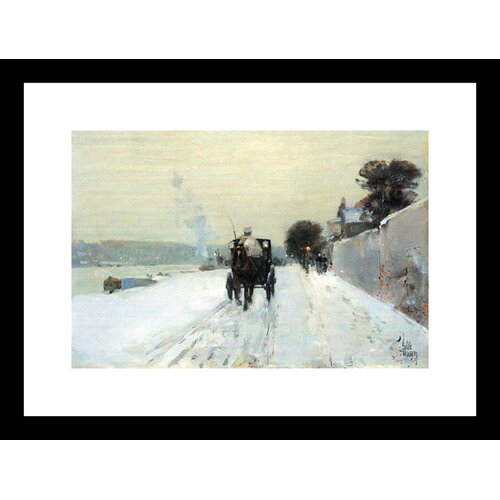 Buyenlarge Along the Seine Framed Painting Print