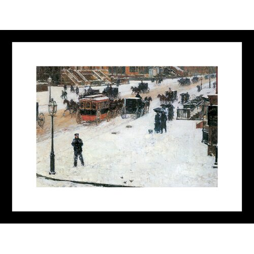 Buyenlarge Fifth Avenue in Winter Framed Painting Print