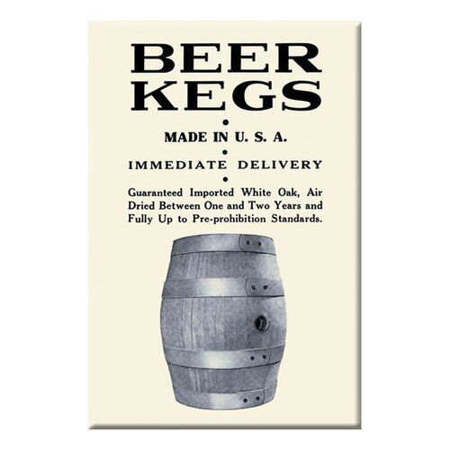 Beer Kegs Vintage Advertisement on Canvas