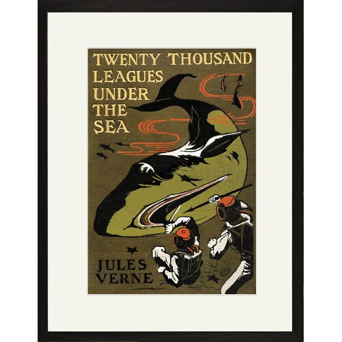 Buyenlarge Twenty Thousand Leagues Under The Sea Framed Graphic Art