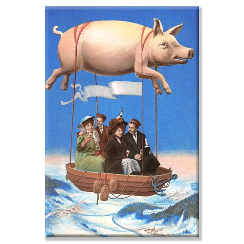 Buyenlarge Pig Balloon Party Graphic Art on Canvas