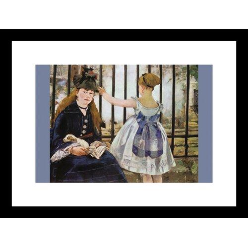 Le Chemin De Fer Framed Painting Print