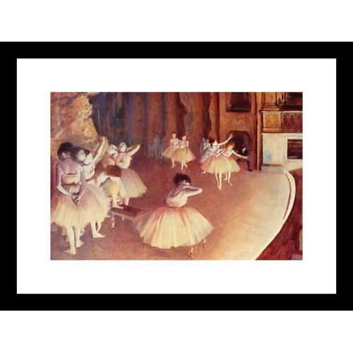 Dress Rehearsal of the Ballet on the Stage Framed Painting Print